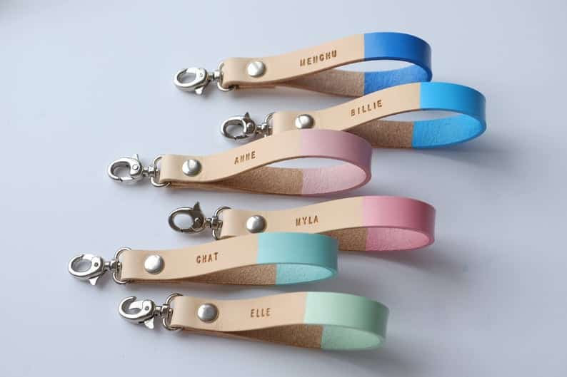 Personalized Leather Keychains From Moccaberry